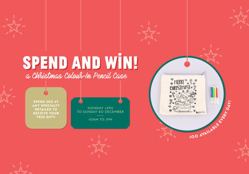 Spend & Win a Christmas Colour-In Pencil Case